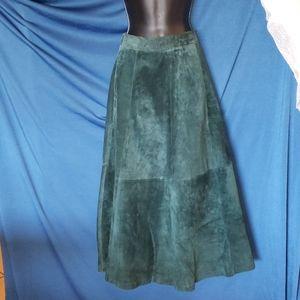 Hunt Club Leather Maxi Skirt - Vintage